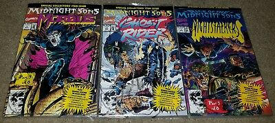 3 Marvel Comics Rise Midnight Sons Ghostrider 1 NM+ of 6 Sealed Set key book 31