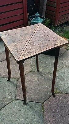 Antique carved folding table