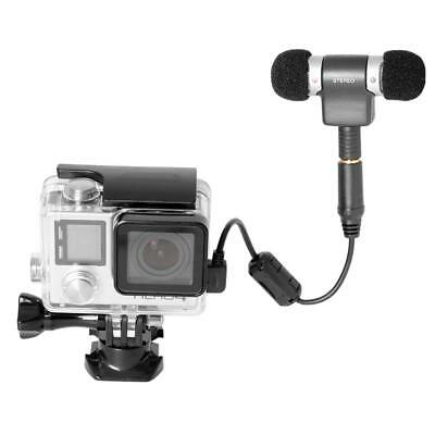 Mini USB Microphone Adapter Cable Cord for Gopro Hero4/ 3/ 3+