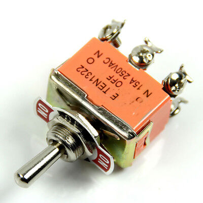 LK_ 6 Pin Toggle DPDT ON-OFF-ON Switch Rocker Arm Mini Switches 250V Pract