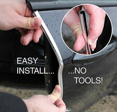 Chrome Moulding U Style Trim Strip Car Door Edge Seal Protects Scratch Proof 10M