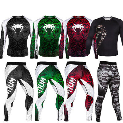 Mens Cycling Tight MMA Trousers Bicycle Thermal Leggings Fitness Gym Long Pants