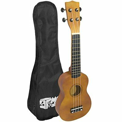 Soprano Ukulele for Beginners and Gig Bag - Natural