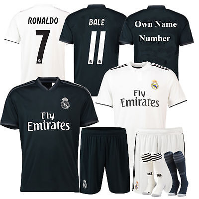 2018/19 Soccer Club Jersey Kids Adult Short Sleeve Sport Outfit Kit + Socks