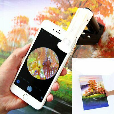 Universal Magnifier 100x Jewelers Microscope LED Light Loupe Clip on Smart Phone