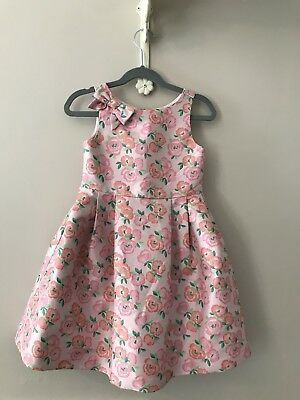 Janie and Jack Pink Floral Formal Dress, Size 4T
