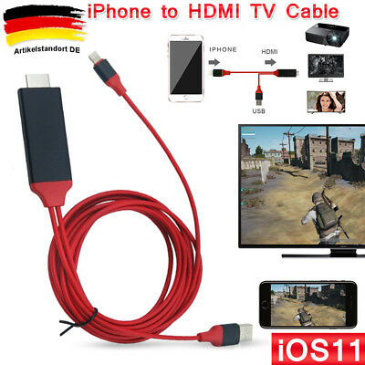 2M Lightning zu HDMI TV AV Adapter MHL Kabel für iPad mini iPhone 5 SE 6S 7 8 X
