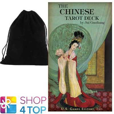 The Chinese Tarot Cards Deck By Jui Guoliang Us Games Systems With Velvet Bag