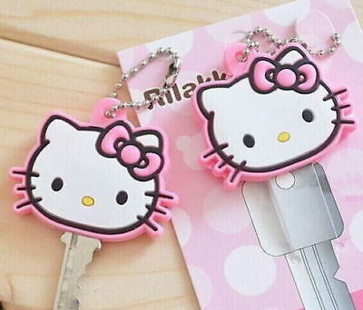 2Piece Lovely Hello Kitty Key Chain Rubber Key Wallet Bag Wallet Holder 4CM