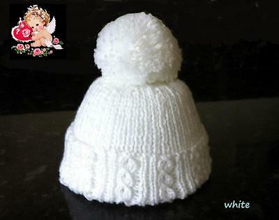 Hand Made Newborn Baby PomPom - Bobble Hats