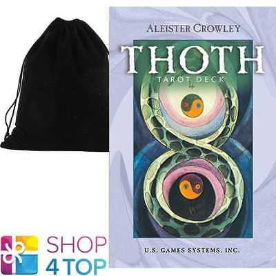 Aleister Crowley Thoth Tarot Small Deck Cards Esoteric With Velvet Bag New