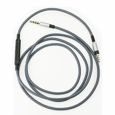 120/150cm Cable with Mic Volume Control Aux Cord Sennheiser Momentum headphone