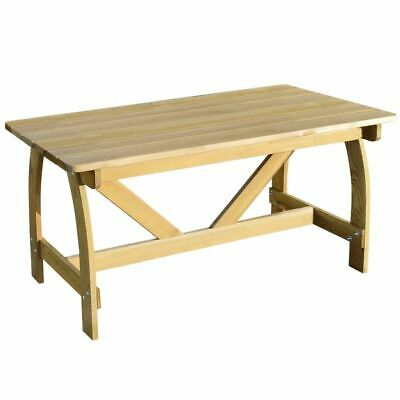 vidaXL Garden Table FSC Impregnated Pinewood Outdoor Picnic Dining Furniture