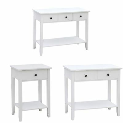 Windsor Console Table 1 2 3 Drawer Hallway Shelf Storage Furniture Unit White