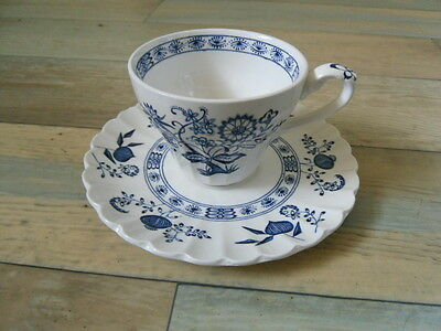 J&G Meakin British Classic White & Blue Nordic COFFEE CUP & SAUCER