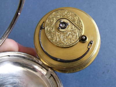SILVER FUSEE CYLINDER POCKET WATCH 'ROBt WINTER, LONDON' 1848 WORKING ORDER