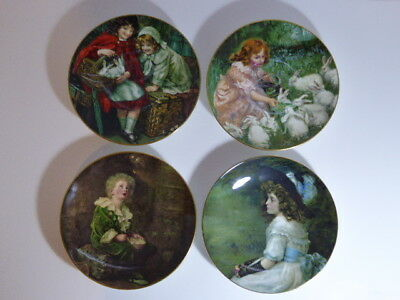 Charming Crown Staffordshire Full Set Of Four Pears Soap Decorative Plates