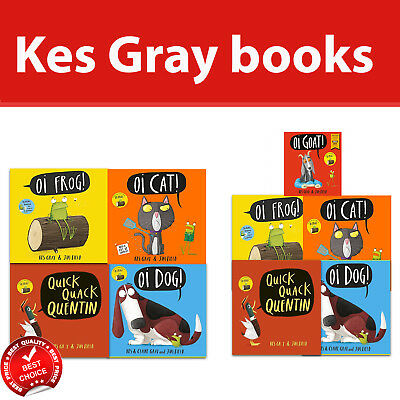 Kes Gray Collection 5 Books Set Oi Frog, Dog, Cat, Goat, Quick Quack Quentin NEW