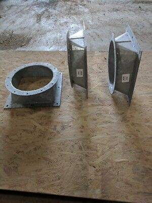 """Hot dipped galvanized 7GA Square to Round Reducers 12""""X10"""""""