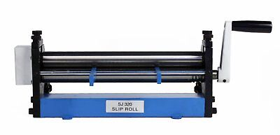 """Erie Tools 12"""" Sheet Metal Slip Roll For Cylinders Reverse Curves, Radius Bends"""