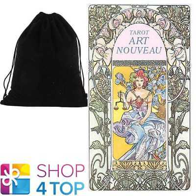 Tarot Art Nouveau Deck Cards Esoteric Telling Lo Scarabeo With Velvet Bag New