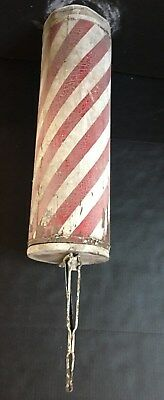 Antique Wooden Barber Pole early 1900's with Bracket Americana