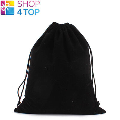 BLACK VELVET VELOUR CLOTH BAG POUCH DRAWSTRING JEWELRY GIFT 15 x 20 CM 1 PCS NEW