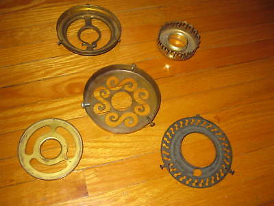 Vintage Brass Lamp Shade Holders  Lot Of 5