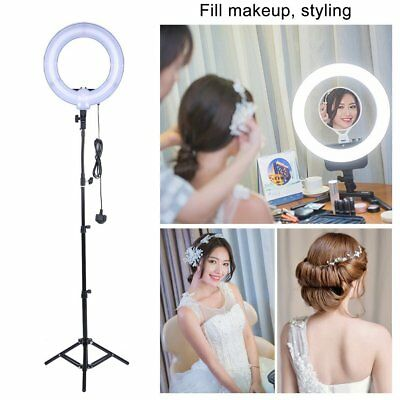14 Inch Studio 40W 5500K Fluorescent Ring Light with 90cm Stand Photo Video UK