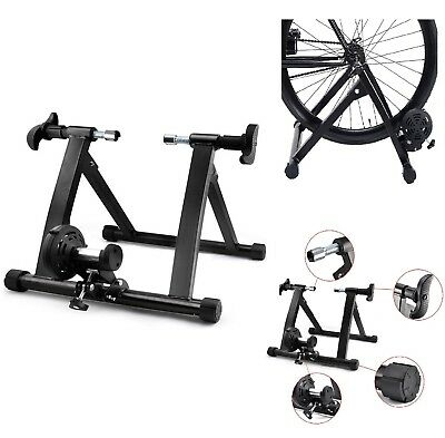 Indoor Exercise Bike Bicycle Trainer Stand 7 Levels Resistance Stationary Magnet