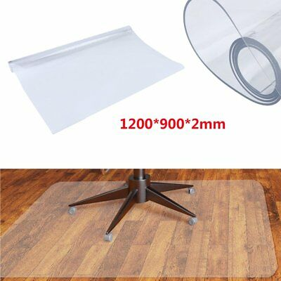 Frosted 900x1200x2mm Non Slip Office Chair Desk Mat Floor Protector PVC Plastic