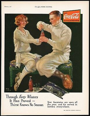 Vintage magazine ad COCA COLA Through Forty Winters 1926 Fred Mizen art n-mint