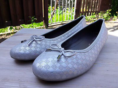 JENNY Damen Slipper Mokasin Halbschuh Silber Gr. 40,5 UK 7