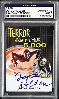 1958 Joyce Holden Terror From The Year 5,000 Signed Card (PSA/DNA)