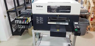 Brother 381 DTG T-Shirt Printer w/Stand, Platens & Viper 6000 Pre-Treat Machine
