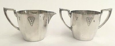 Oneida Community Silverplate Deauville Pattern Cream and Sugar 15906 & 15905