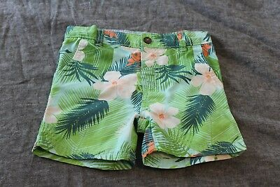 Carter's Baby Boy Flat-Front Canvas Shorts, Tropical Print, 24m