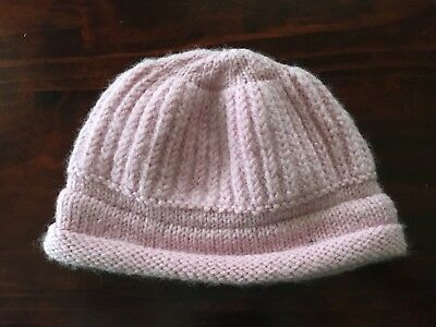 Knitted Baby Girls Hat Size 000-0 EUC
