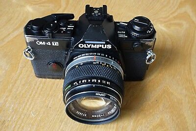Olympus OM4Ti Black Body and 50mm F1.4 Zuiko lens