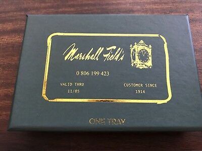Marshall Field's department store ceramic credit card tray