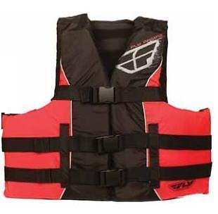 INSTOCK Fly racing Life Vest Red/Black Large/XLarge 221-60432