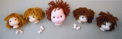 Lot of assorted Vintage Doll Heads by Darice some with & without hands