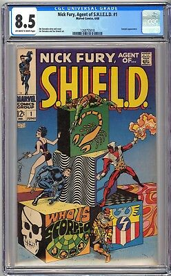 Nick Fury Agent Of Shield #1 - Cgc 8.5 Ow/wp - Vf+