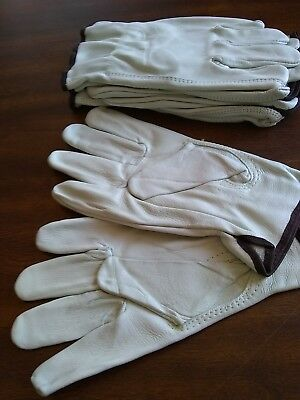 Leather work gloves premium size large  4 pair Cowhide