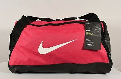 97ee83a8522f NIKE BRASILIA SMALL Training Duffel Bag Rush Pink  Black  White (BA5335 644)
