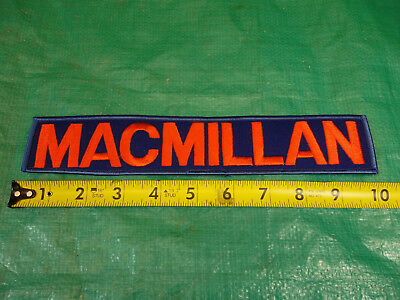 """10"""" Embroidered MacMillan Oil & Gas Refinery Sew-on Patch Vintage Ring-Free"""