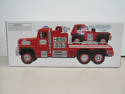 2015 Hess Toy Fire Truck + Ladder Rescue Mint In Box (12026-Closet-Y)