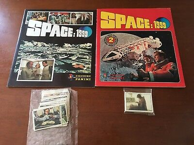 Album Di Figurine Spazio: 1999 Space: 1999 1 E 2 Serie Panini 1976 - 1979 Lotto
