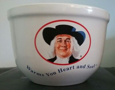 NICE Quaker Oats Oatmeal Advertising Bowl  Warms You Heart And Soul