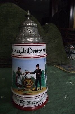 WURTTEMBERG, Regimental Imperial German LithophaneTHIS IS A Beer Stein. Pre-WW1